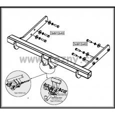 Tažné zařízení VW T5 + Caravelle + Synchro (4x4) včetně park. senzorů r.v. 03 ->