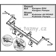 Tažné zařízení Renault Kangoo 4x4 / Pampa 4x4 / Storia r.v. 2001 - 2010