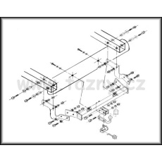 Tažné zařízení Citroen Berlingo r.v. 11/1996 - 12/2002