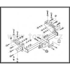 Tažné zařízení Citroen Jumper r.v. 03/1994 - 2006 valník