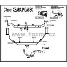 tažné zařízení Citroen Xsara Picasso r.v.1999 -2007