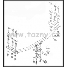 Tažné zařízení Opel Calibra r.v. 01/90 - 12/97