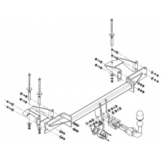 Tažné zařízení Opel Meriva r.v. 2003 - 2010