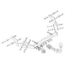 Tažné zařízení Peugeot Partner r.v. 96 - 06/08