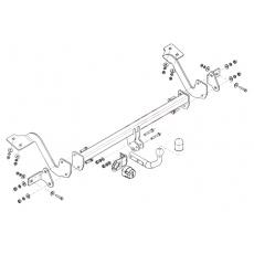 Tažné zařízení Peugeot Partner r.v. 07/08 - > verze 4380mm