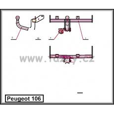 Tažné zařízení Peugeot 106 r.v. 1991 - 04/1996