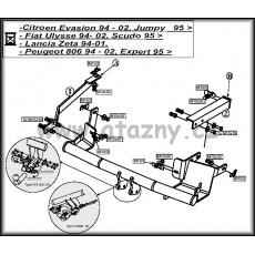 Tažné zařízení Peugeot Expert r.v. 94 - 07