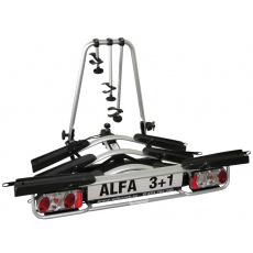 Nosič kol na tažné zařízení Alfa Plus 3 +1 hliníkový