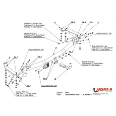 Tažné zařízení Toyota Avensis Verso (M20) r.v. 01 - >