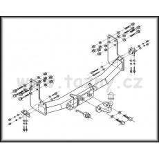 Tažné zařízení Mercedes Sprinter valník r.v. 95 ->