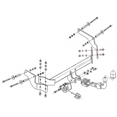 Tažné zařízení Peugeot Bipper r.v. 2008 - 2014