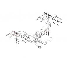 Tažné zařízení Nissan X-Trail II. r.v. 2007 - 2014
