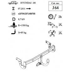 Tažné zařízení Hyundai i40 combi r.v. 2011 - >