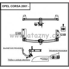 Tažné zařízení Opel Corsa C, Corsa C Van r.v. 12/2000 - 2006