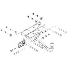 Tažné zařízení Jeep Wrangler (JK) r.v. 04/2007 - 2018